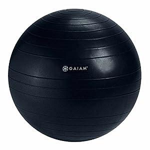 Gaiam Balance Ball Chair Replacement Ball, Glossy Black, 52cm