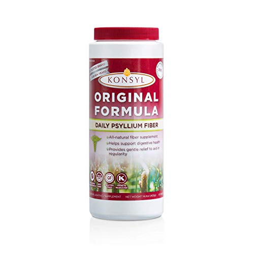 Konsyl - Original Formula - Psyllium Husk Daily Fiber Supplement Powder | All-Natural, Soluble, Gluten-Free and Sugar-Free | 1 Pack - 402g