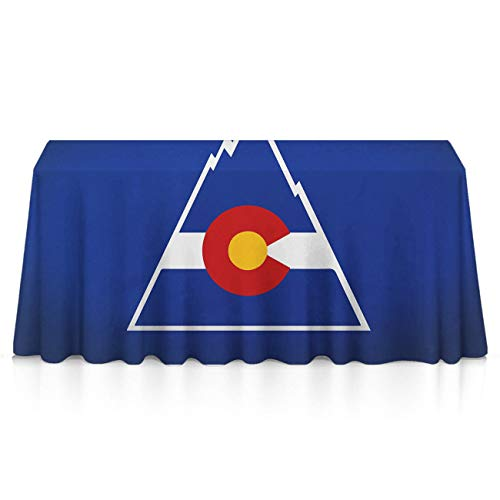 NiYoung Tablecloths, Waterproof Wrinkle Free Colorado Flag Table Decor Table Protectors - 60 x 90 inches, Outdoor, Picnic, Catering Events, Celebrations, Weeding ()