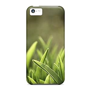 Defender Case With Nice Appearance (grass Field Resized5) For Iphone 5c