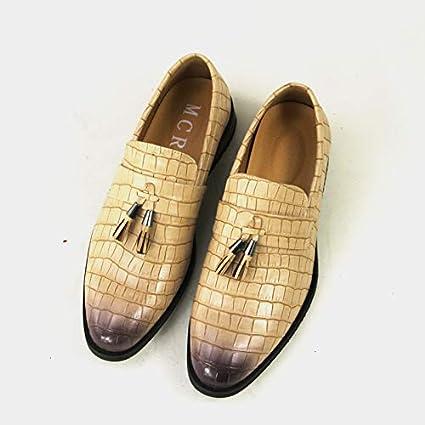 9cb4a5d961319 LOVDRAM Zapatos De Hombre Zapatos Personalizados Moda De Hombre Borlas  Patrón De Cocodrilo Zapatos De Hombre