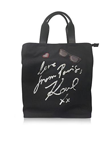 Karl Lagerfeld Borsa Shopping Donna 76KW3090 Cotone Nero