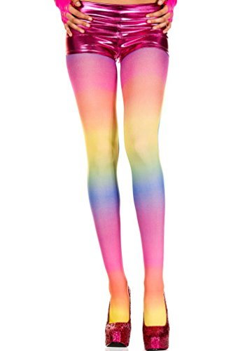 Pantyhose Rainbow opaque tights(AS SHOWN,OS)
