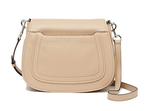 Marc Jacobs Empire City Large Leather Crossbody Bag (Sandstone) (Marc Jacobs Beige)