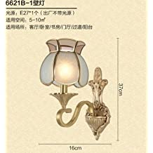 WYMBS European-style living room all copper bedroom bedside lamp base Europe living room TV wall wall lights, sect. C.