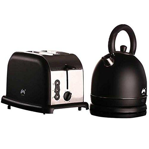 comme direct ltd grand dme rapide bouillir bouilloire 2 slice toaster large fente ensemble - Cuisine Noir Et Argent