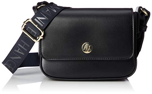 (A|X Armani Exchange Flap Over Small Crossbody, Black 299)