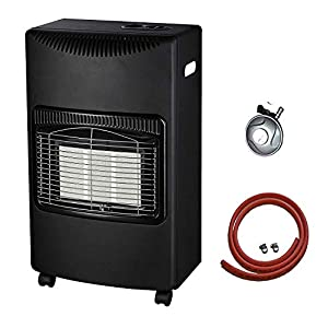 PROGEN NEW CALOR 4.2kw PORTABLE HEATER FREE STANDING HEATING CABINET BUTANE GAS HEATER WITH FREE 1M HOSE AND REGULATOR FOR HOME OUTDOOR