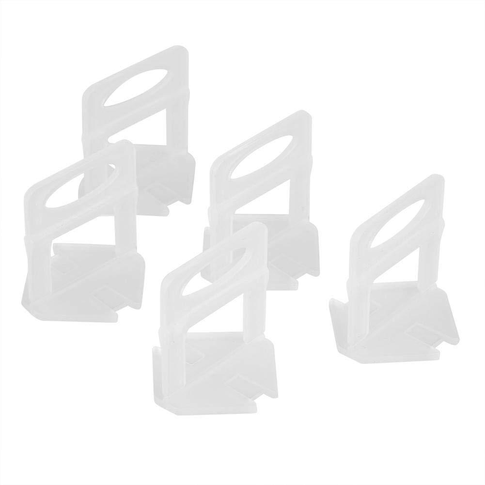 800Pcs 2mm Clips de Nivelaci/ón de Azulejo Reutilizables Base Nivelador de Azulejo Herramienta de Revestimiento de Piso Espaciador de Paredes