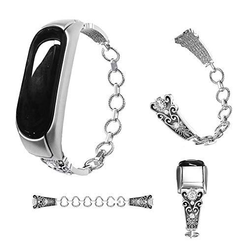 Amazon.com: Love Environment 3 Metal Leather Wristband for Xiaomi Mi Band 3 Watch Strap for Xiaomi Mi Band 2 Bracelet Correa Xiaomi MiBand 3 2 Bands: ...