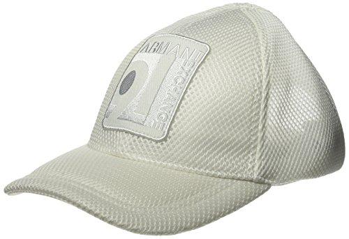 Armani Exchange Men's Mesh Baseball Hat, White One Size