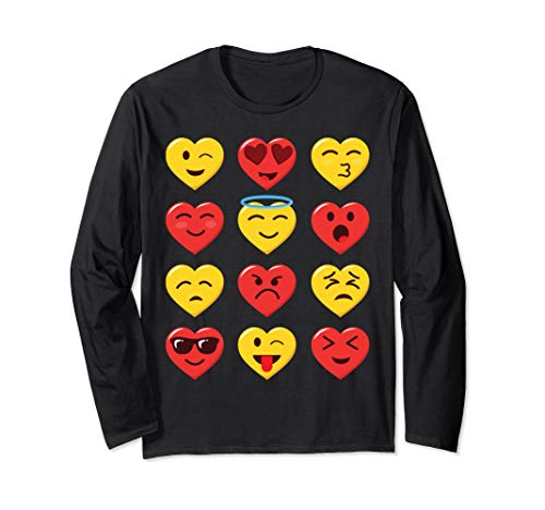 Funny Valentines Day Shirt Heart Emojicon Emoticon Boys Girl -