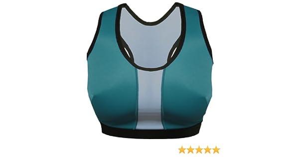 c15da44a777 Lynx No-Bounce Sports Bra Teal White Trim Size 7 Sprint at Amazon Women s  Clothing store  Sports Bras