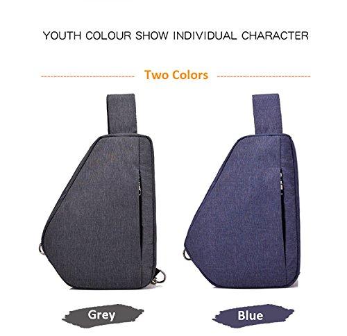 SINOKAL Sling Backpack Chest Shoulder Bag Casual Crossbody Shoulder Triangle Packs Daypacks for Men Women Canvas Digital Camera Bags for Sport Outdoor Gym Travel Hiking (Dark Grey)