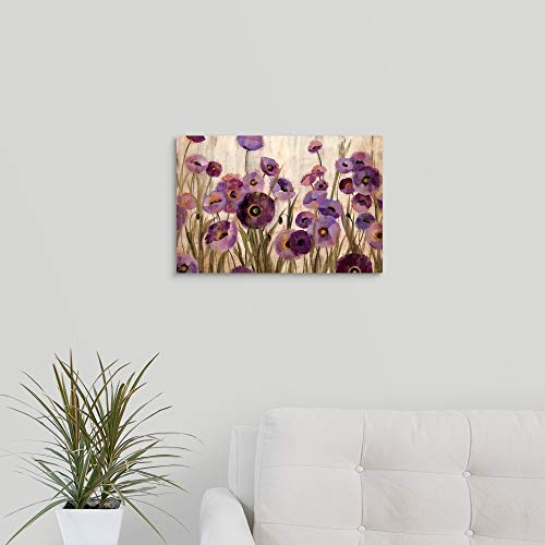 Pink and Purple Flowers Canvas Wall Art Print, 18 x12 x1.25