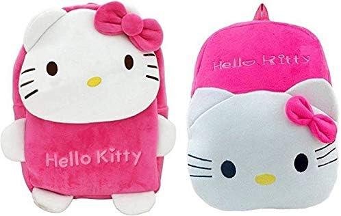 Blue Tree Velvet Kids School/Nursery/Picnic/Carry/Travelling Bag - 2 to 5 Age (Pack 2-Best_Rani-Hello Kitty)