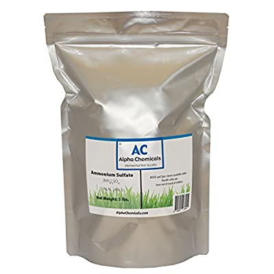 Ammonium Sulfate - (NH4)2SO4 - 21-0-0 Fertilizer - 5 Pounds