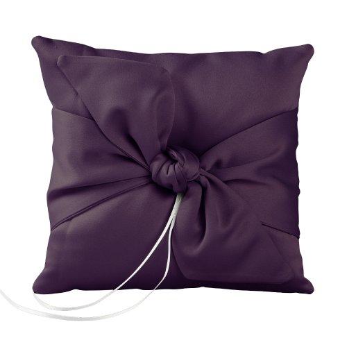 Ivy Lane Design Love Knot Ring Pillow, Eggplant