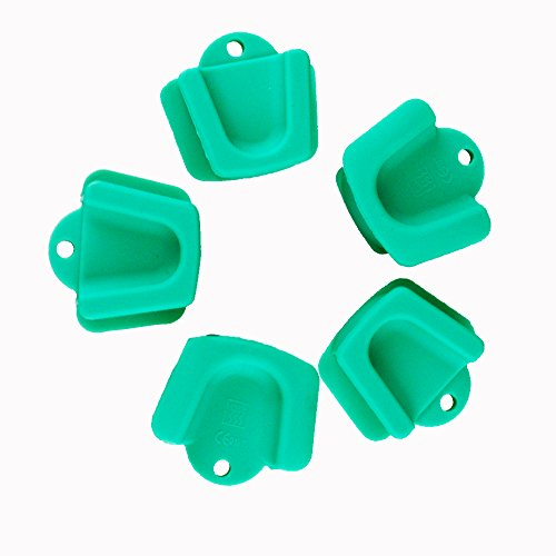 Airgoesin 5pcs Dental Oral Silicone Mouth Prop Bite Blocks, Large Size Adult Size Latex Free Cheek Retractor 135 degrees Celsius Sterilized LATEX FREE