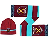 Official West Ham United Winter Warmers Hat & Scarf Gift Set (100% Acrylic)