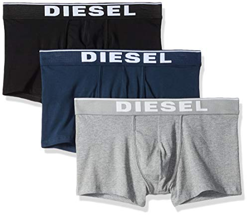 (Diesel Men's UMBX-DAMIENTHREEPACK Boxer 3pack All-TIMERS, Grey/Blue/Black, L)