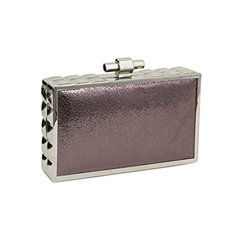 80f35354a7e high-quality Beaute Bags Box Frame Hard Shell Clutch Evening Bag in Vegan  Leather with