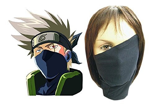 Relaxcos Naruto Hatake Kakashi Veil Mask Cosplay Costume
