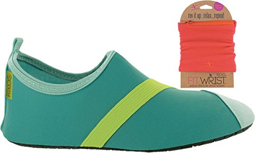 Fitkicks Chaussures Femme Avec Porte-monnaie Fitwrist, Turquoise / Chaussure Verte Fuchsia