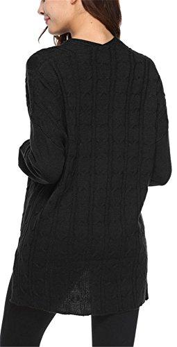 Atomene Longue et Tops Sweater Pullover Casual taille Mi Hiver Femme Tricots V Grande YOGLY Col Jumper qzEt6P7w