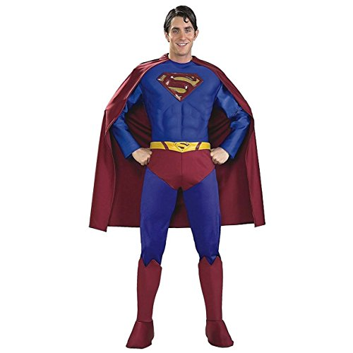 Rubie's Costume Supreme Edition Muscle Chest Superman, Blue/Red, Large Costume