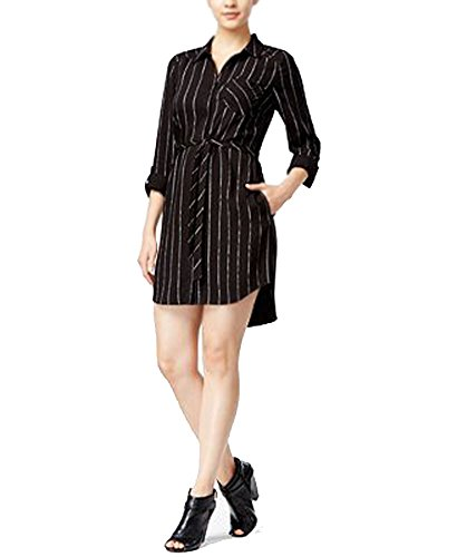 kensie black and white striped dress - 2