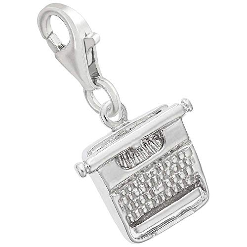 Rembrandt Charms Typewriter Charm with Lobster Clasp, Sterling Silver ()