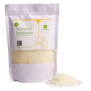 MQ Organic Beeswax Pellets Premium Natural Pure Bees Wax - No Toxic Pesticides or Chemicals - Cosmetic Grade Triple Filtered Beeswax For DIY Candles/Lip Balm/Skin Care - 500g/1b (White)