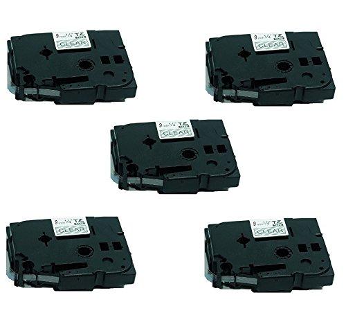 Schriftband für Brother Weiß auf Clear TZe-135 TZe135 12mm PT-E200 E100 D600VP