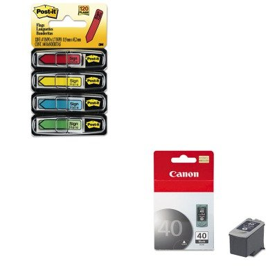 KITCNMPG40MMM684SH - Value Kit - Canon PG40 PG-40 Ink Tank (CNMPG40) and Post-it Arrow Message 1/2amp;quot; Flags ()