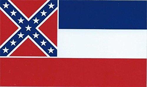 - StickerTalk 5in x 3in Mississippi State Flag Bumper Sticker Decal Window Stickers Car Decals