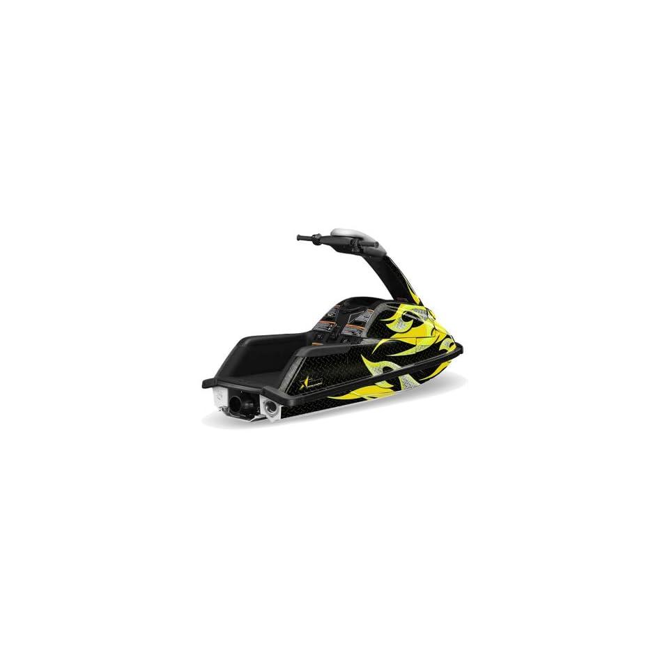 AMR Racing Yamaha Superjet Jet Ski Graphic Wrap Kit (round nose)   Tribal Fla