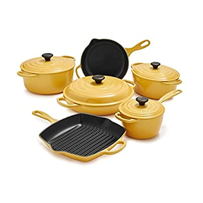 Le Creuset Signature 10-Piece Set MS14SLT10-6J , Honey