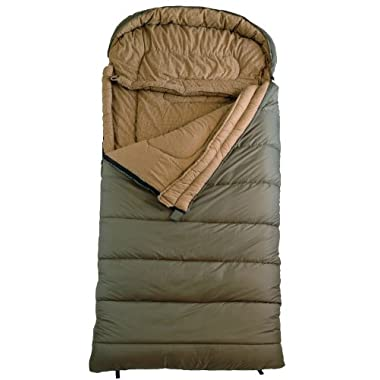 TETON Sports Celsius XXL -18C/0F Sleeping Bag; 0 Degree Sleeping Bag Great for Cold Weather Camping; Green, Right Zip