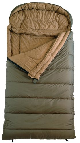 TETON Sports Celsius Regular -18 Degree C  0 Degree F Flannel Lined Sleeping Bag (80x 33 Green Right Zip)