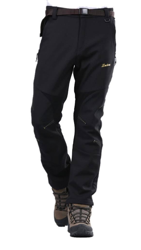 Geval Men's Windproof Waterproof Softshell Fleece Ski Pants