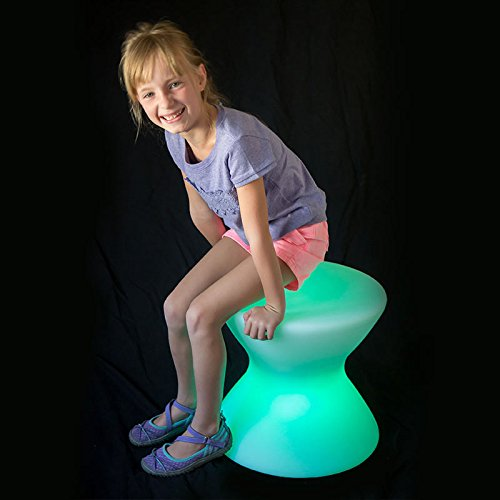 Fun and Function LimeLite LED Sitting Spool – Create Calming Corner in a Room with Soft Glow LED Light in Chair, Ages 5+