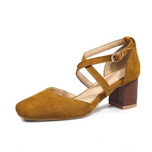 Femme Jaune Jaune 36 5 Sandales Compensées BalaMasa E8qpwR7O7