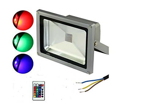 Amazon.com: Cold White, 20W : Outdoor RGB PIR Sensor LED ...