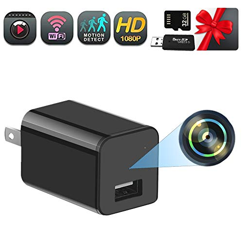 Hidden Camera Charger Nanny Cam HD 1080P Surveillance Camera Motion Detection for Home Security