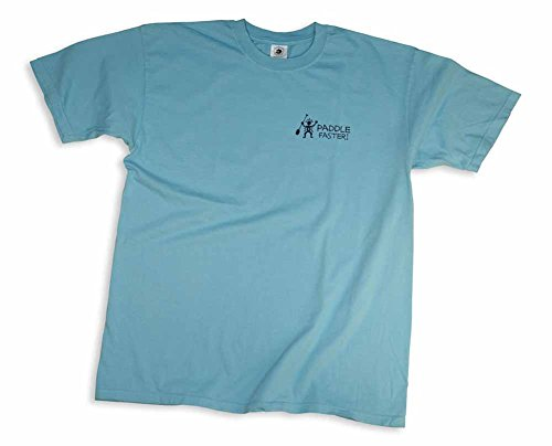 (Mountain Graphics Paddle Faster Pigment-Dyed T-Shirt Large Tropical Blue )