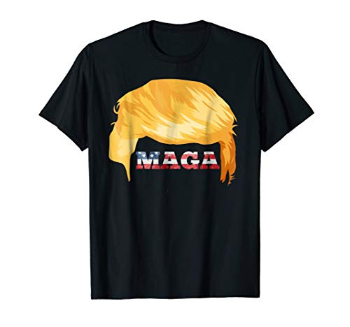 President Trump's Famous Hair Style & US Flag