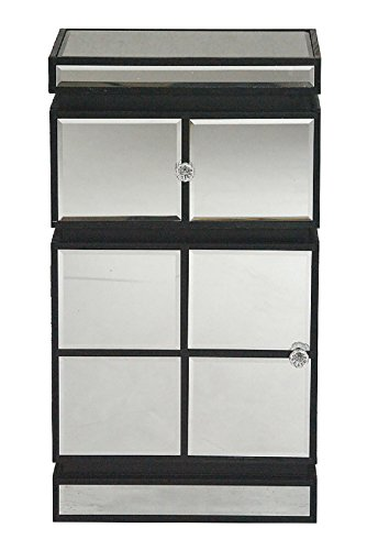 Heather Ann Creations W192112-BLK Pierre Cabinet with Mirror