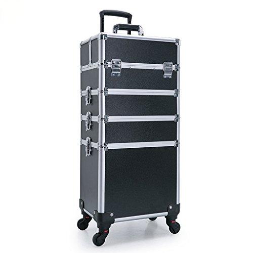 Art Beauty Make Up Case Trolley Caja Cosmética Profesional De Aluminio para Caja De Almacenamiento De Uñas, Joyas Y...