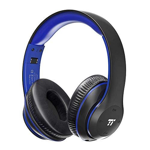 TaoTronics Wireless Headset with Dual 40mm Drivers Over Ear Headphones (On Ear Controls, EQ Bass, 15 Hour Audio Playback)